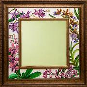 Орхидеи теперь и в декоре рамки для зеркала