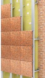 Натуральный и искусственный камень на фасадных системах «ОЛМА»