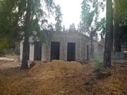 В «Лесогорье» завершился 1 этап строительства въездной группы.
