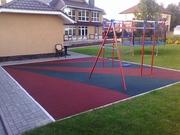 Резиновая плитка для садоводов и детских площадок
