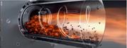 Принцип работы пеллетного котла с факельно горелкой
