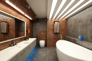 Промышленная ванная комната. Стиль Лофт в ванне.